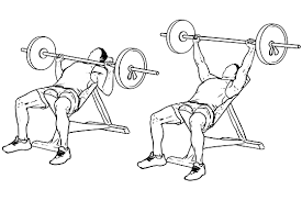 Incline bench press to target upper chest muscles
