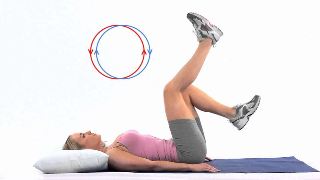 How To Do Lying Down Bicycle Exercise