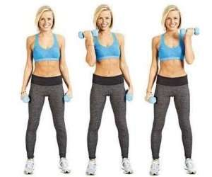 Standing Seated Dumbbell Curls