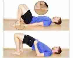 Lying Hip Bridge Exercise
