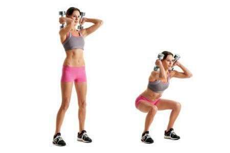Dumbbell Front Squats