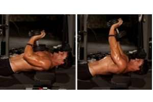 Sigle Dumbbell Close Grip Bench Press