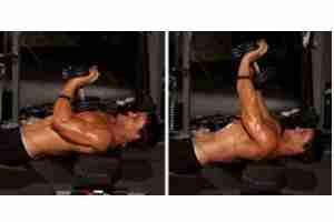 Sigle Dumbbell Close Grip Bench Press