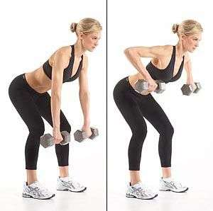 dumbbell wide row for back