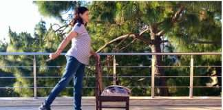 Standing Hip Extension-Women:Men:Seniors:Beginners