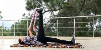 Hamstring Stretches With Towel