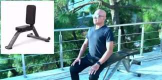 How to do Seated Double Arms Dumbbell Overhead Tricep Extension Exercise