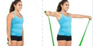 Shoulders Side Raises With Resistance Band